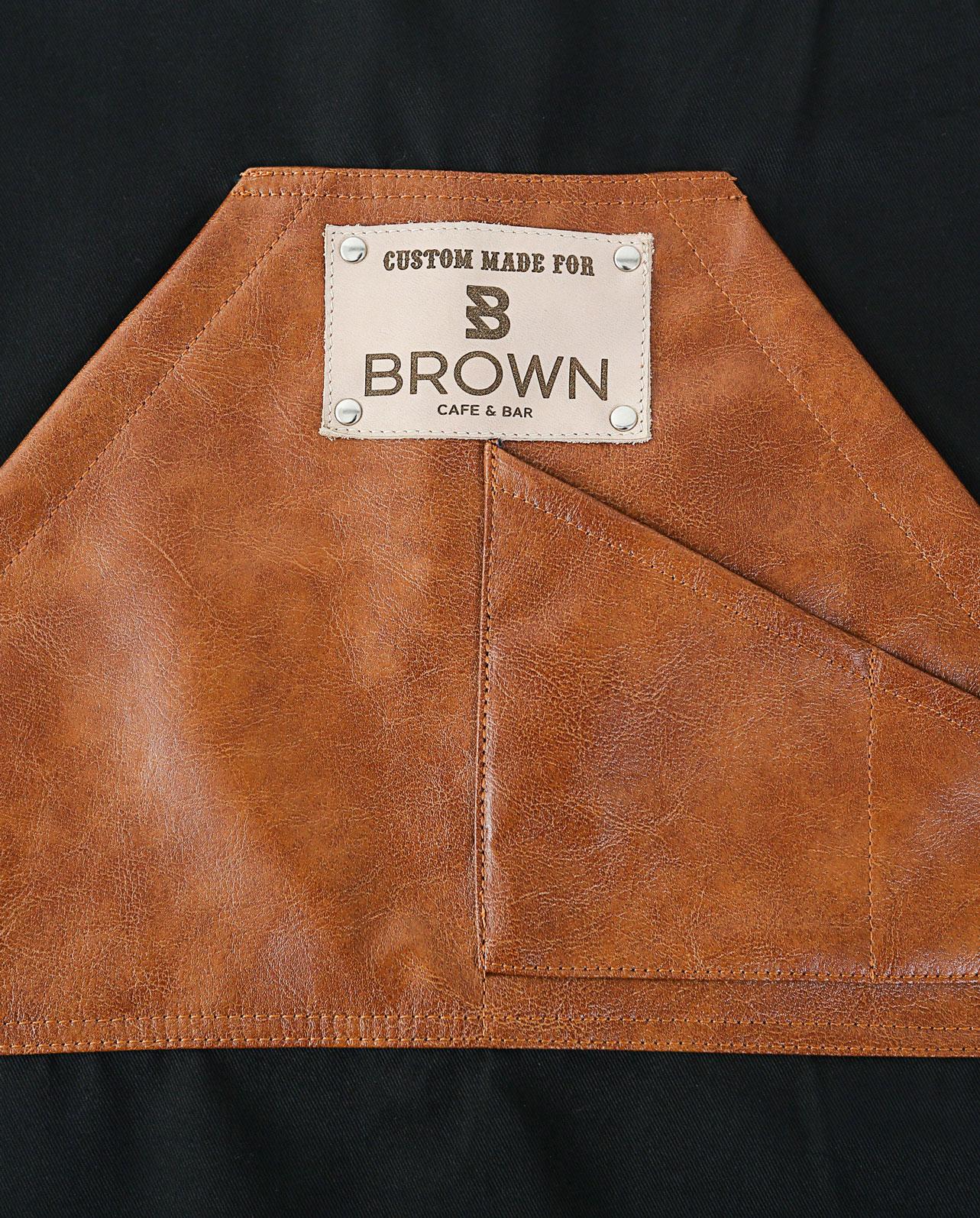 Fancy Gents Apron Brown Midi