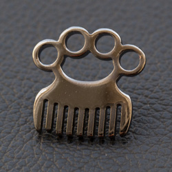 2x Black Nickel Knuckle Punch Comb