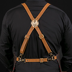 Adjustable Built In Cross Harness with FG Alloy Label