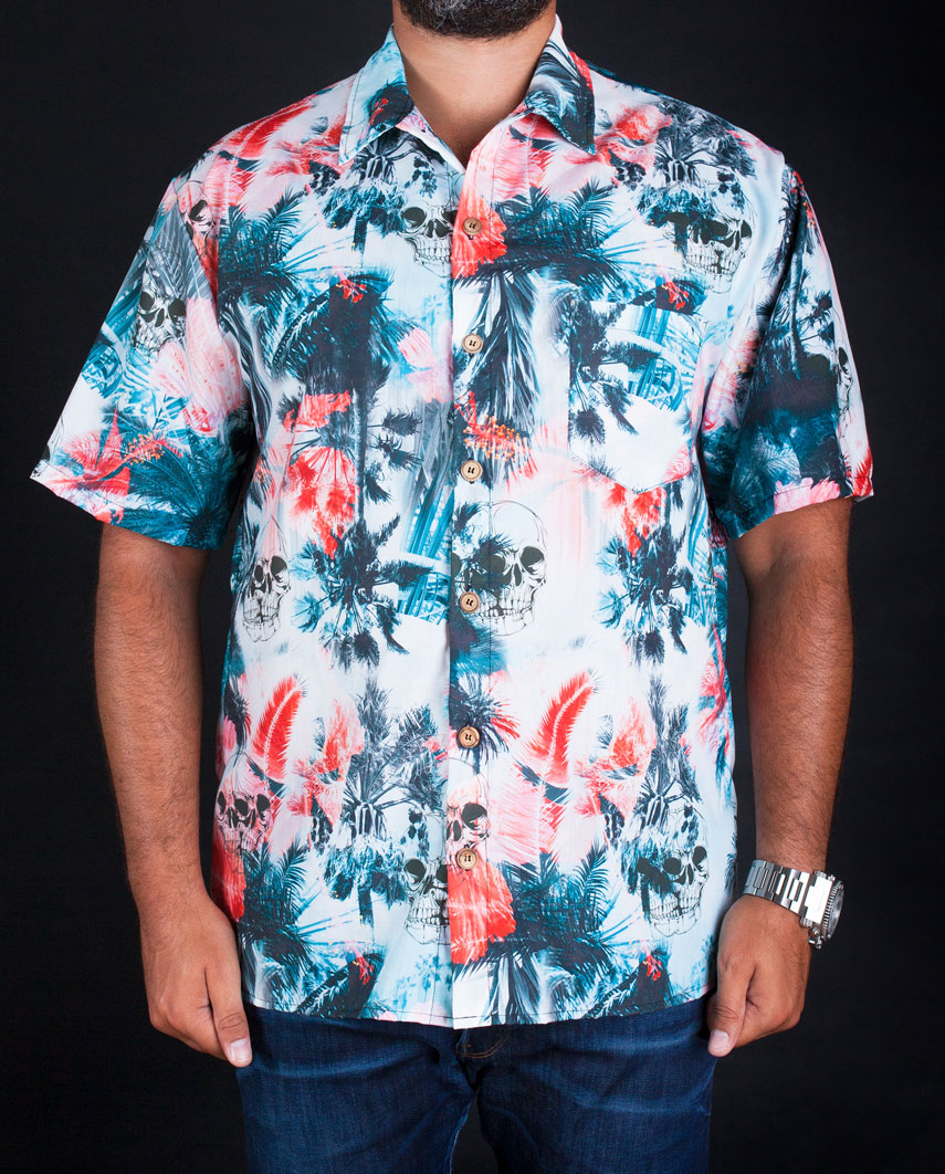 Fancy Shirts Skull & Palm trees